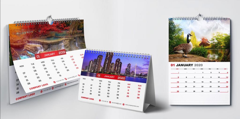 Modelos de calendarios publicitarios para emrpesas