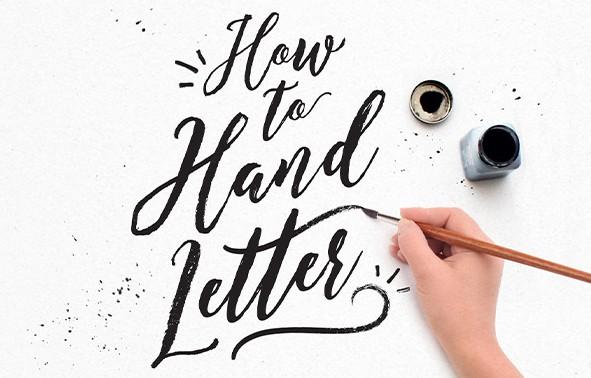 ejemplo  de lettering con pincel