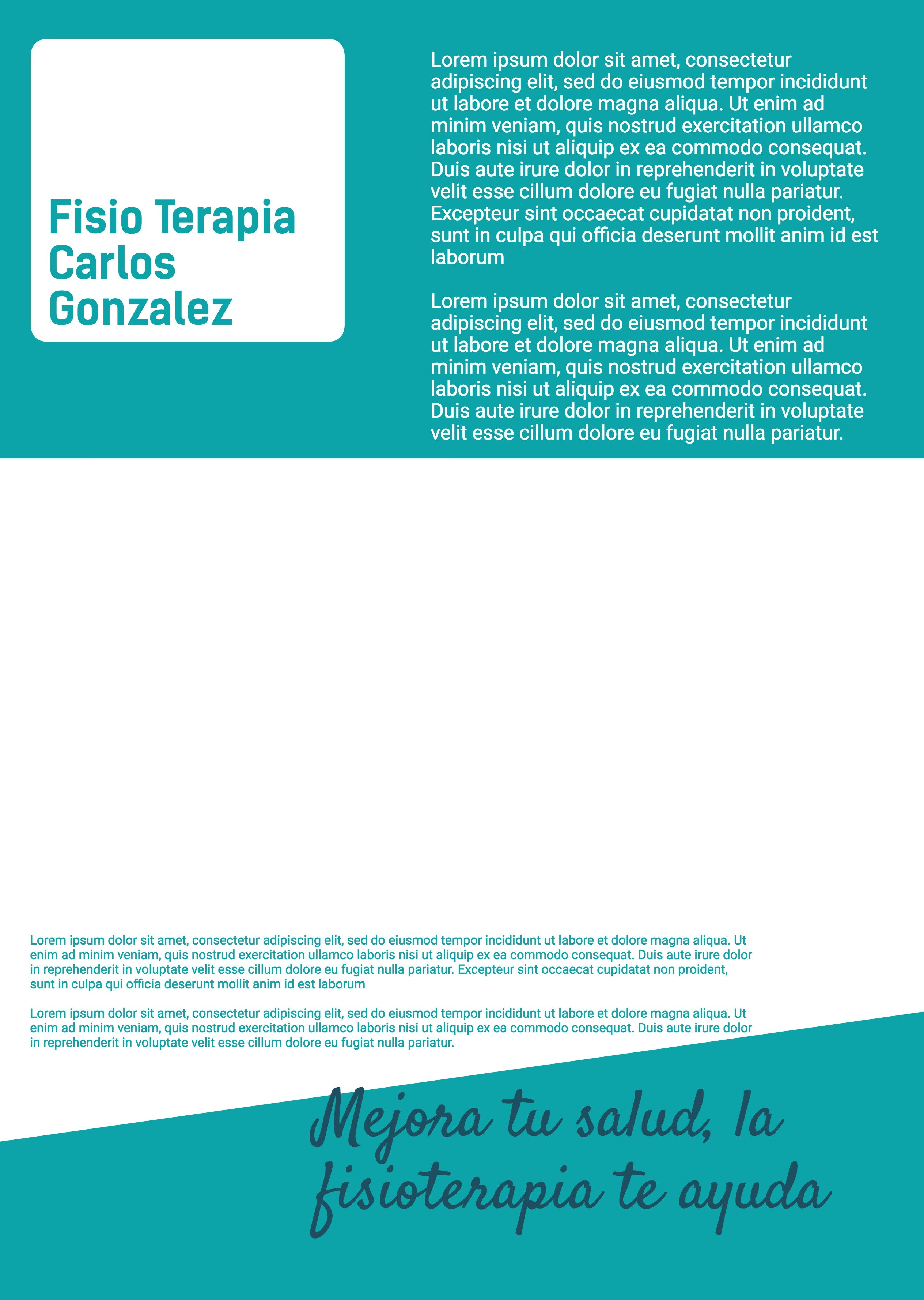 Flyer Fisioterapia