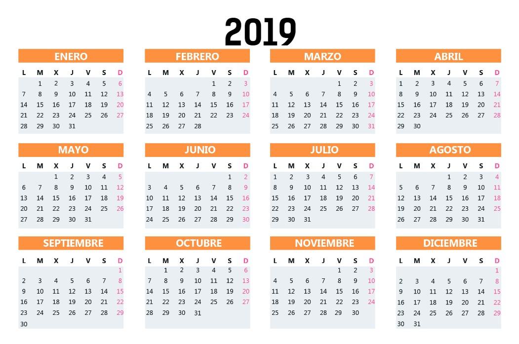 Calendario Bolsillo mostaza