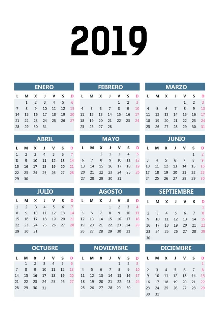 Calendario Bolsillo vertical_gis azulado