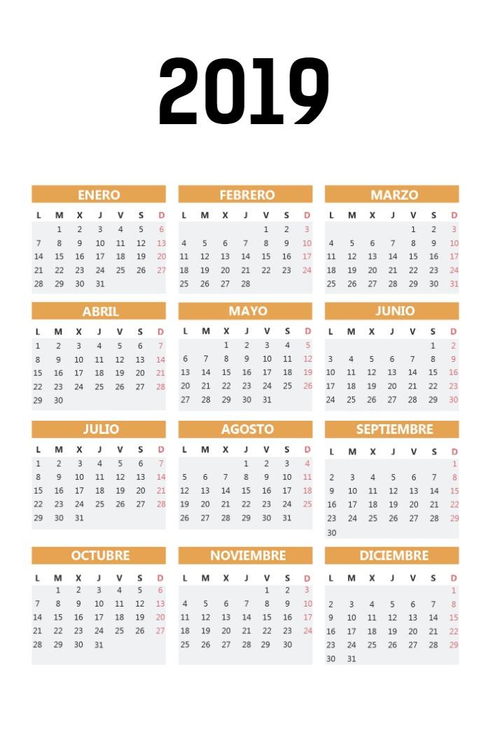 Calendario Bolsillo vertical_naranja