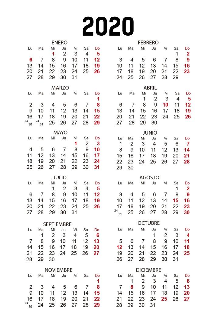Calendario Bolsillo vertical_verde oscuro