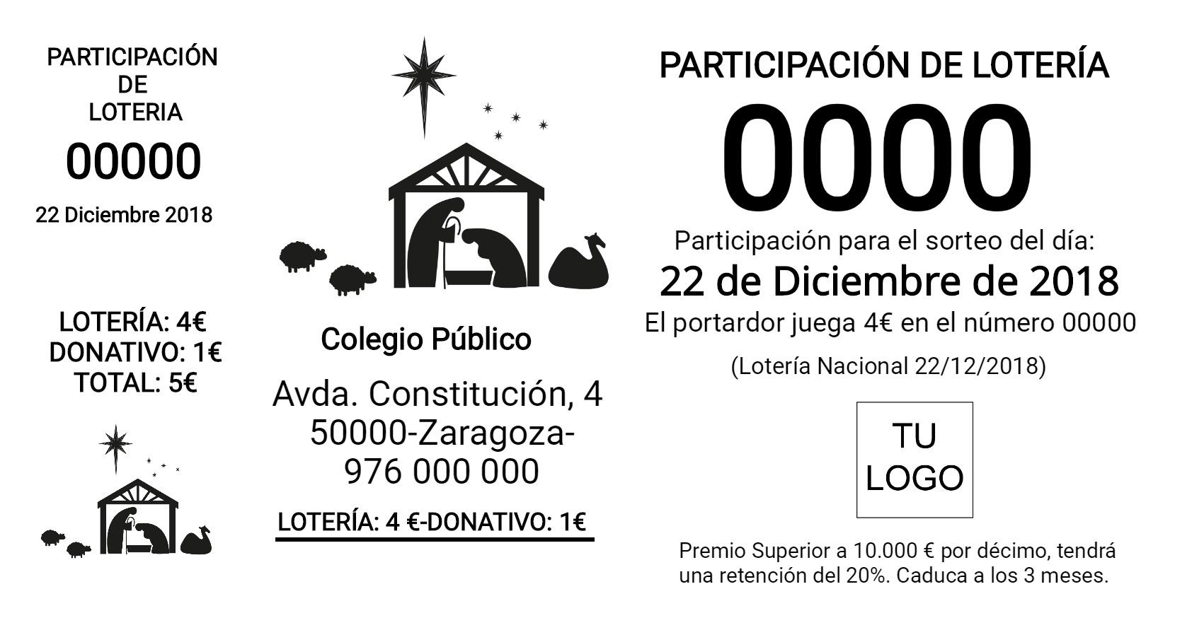 Participación de lotería 14x7