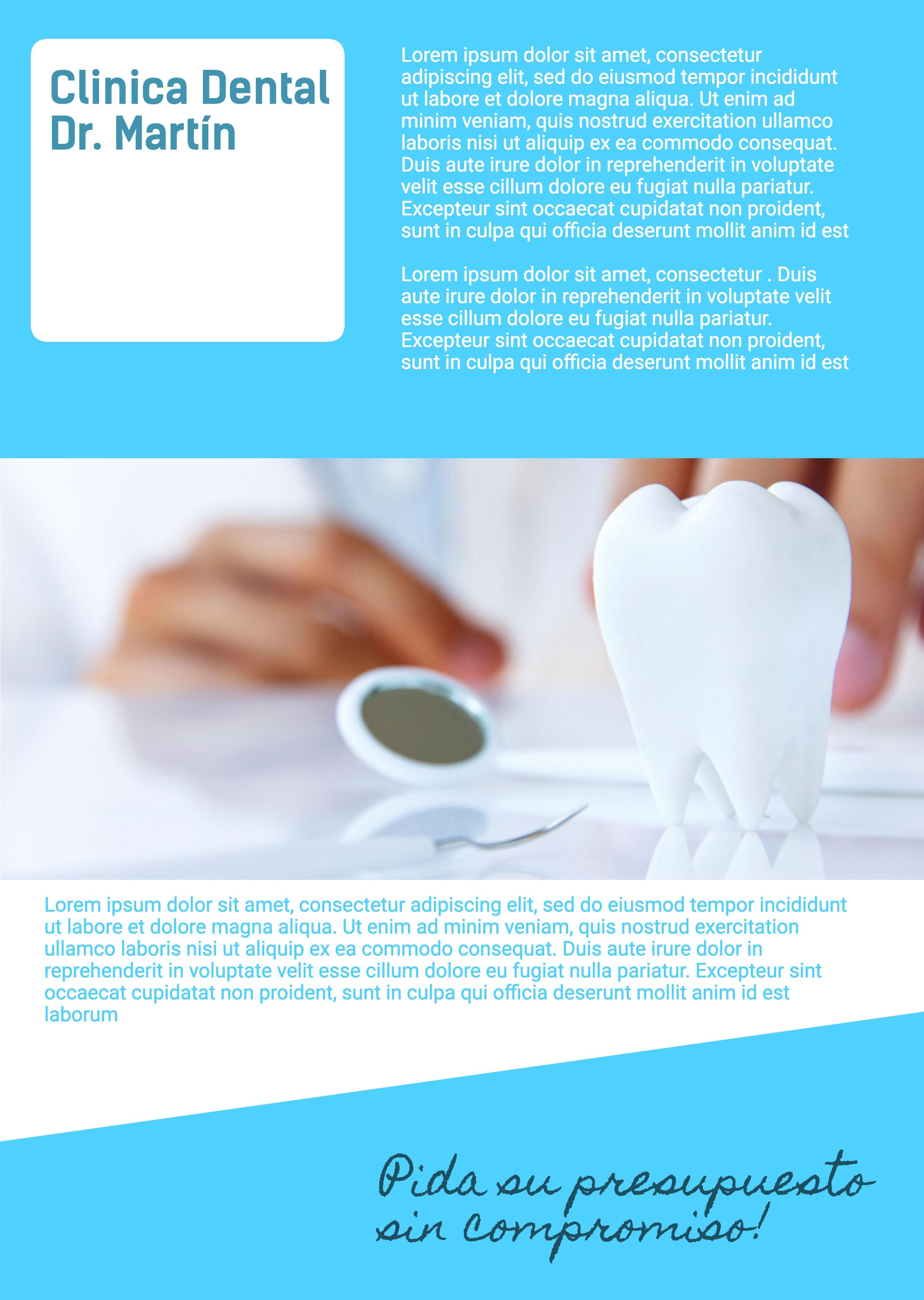 Flyer A4-21x29,7 cm vertical Clinica dental