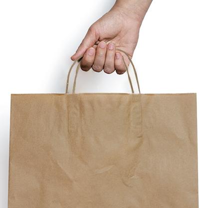 e486ba913 Bolsas de papel personalizadas publicitarias online baratas kraft